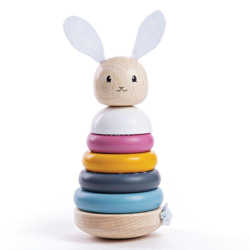 Bigjigs Rabbit Stacking Rings 100% FSC