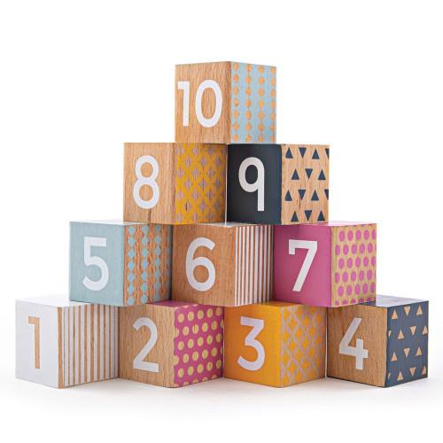 Bigjigs Wooden Number Blocks 100% FSC