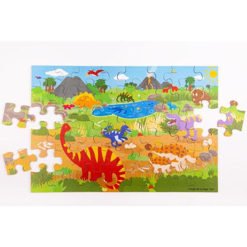 Bigjigs Dawn of the Dinosaur Floor Puzzle