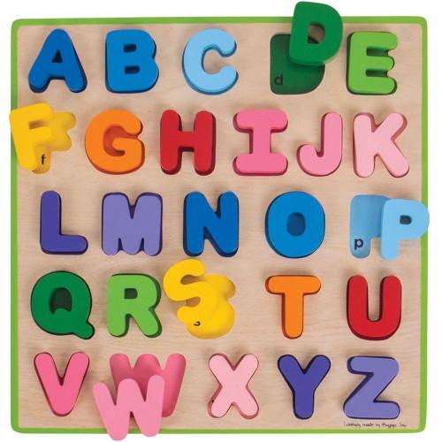 Bigjigs Uppercase Chunky Alphabet Puzzle