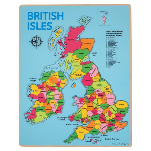 173 of 44855 Bigjigs British Isles Inset Puzzle