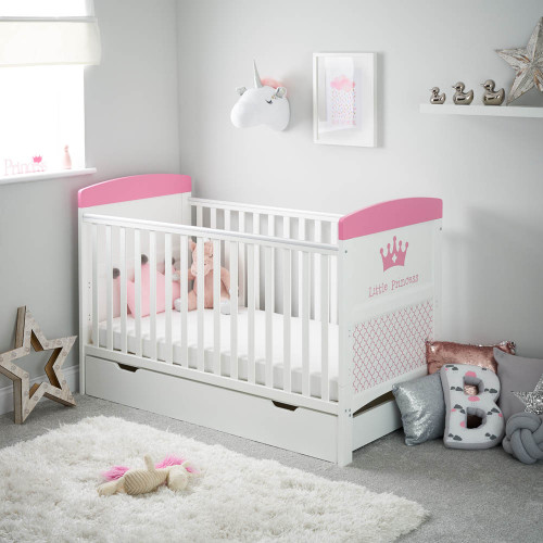 Obaby Grace Inspire Cot Bed & Under Drawer - Little Princess