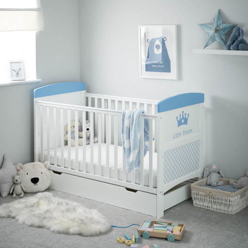 Obaby Grace Inspire Cot Bed & Under Drawer - Little Prince