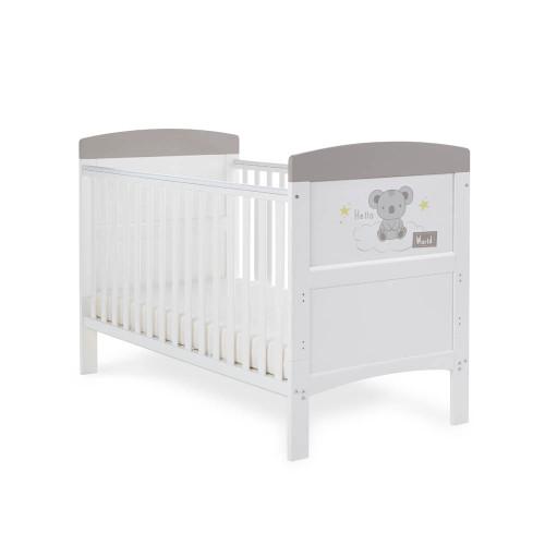 Obaby Grace Inspire Cot Bed - Hello World Koala