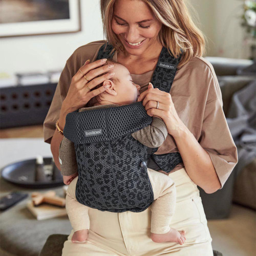 Babybjorn Baby Carrier Mini 3D Mesh - Anthracite/Leopard