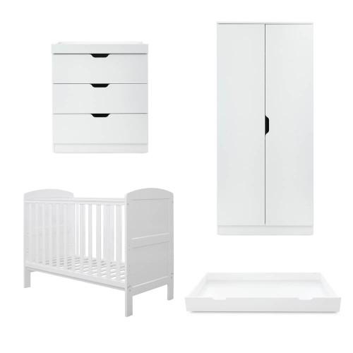 Ickle Bubba Coleby Mini 4 Piece Room Set - White