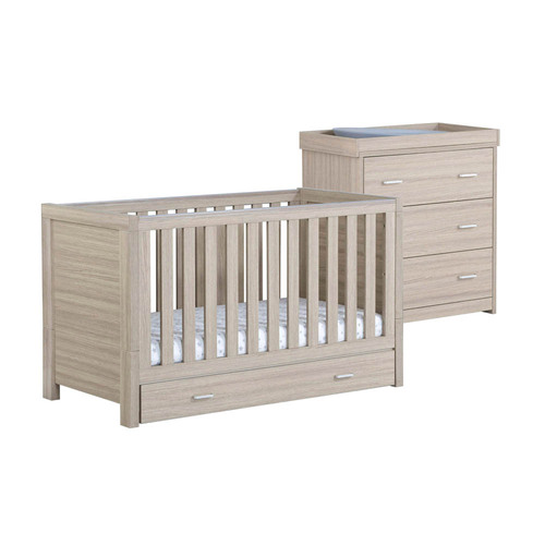 Babymore Luno 2-Piece Room Set with Drawer - Oak