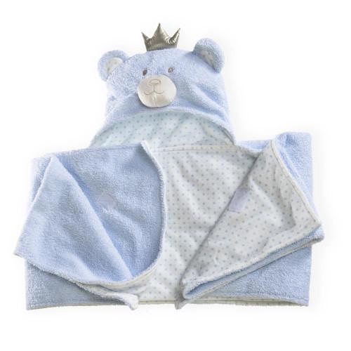 Clair De Lune Little Bear Hooded Blanket - Blue