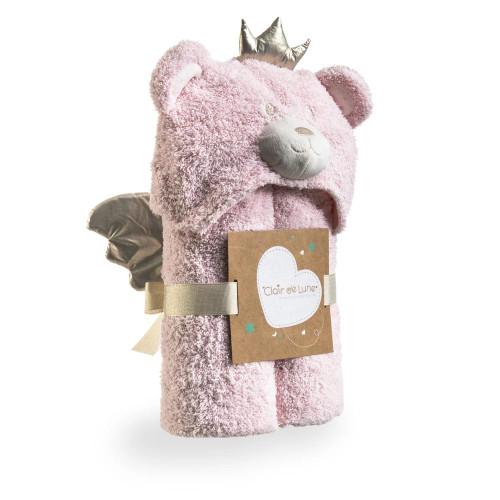 Clair De Lune Little Bear Hooded Blanket - Pink