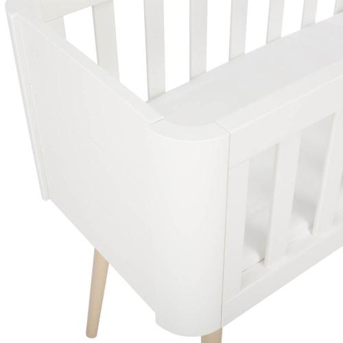 Troll Retro Crib - White/Natural