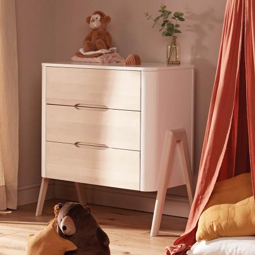 Troll Torsten 3 Drawer Dresser - White/Natural
