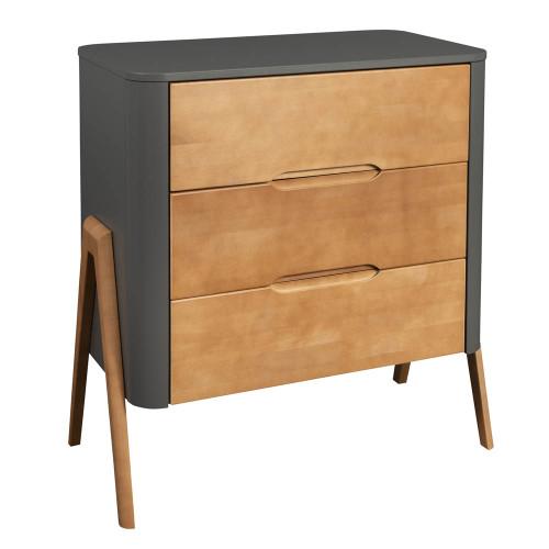 Troll Torsten 3 Drawer Dresser - Grey/Teak