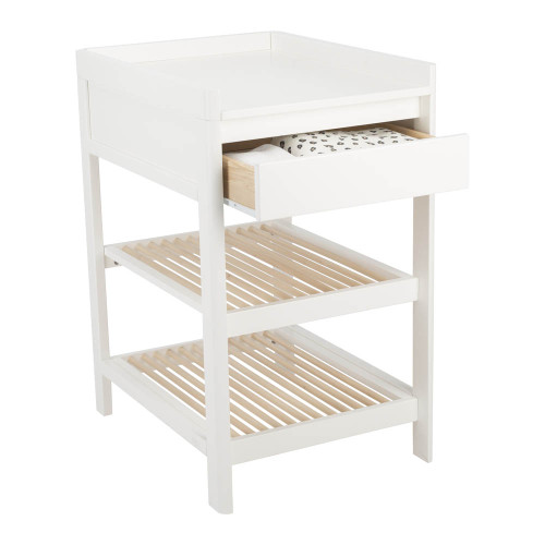 Troll Lukas Changing Table - White/Natural