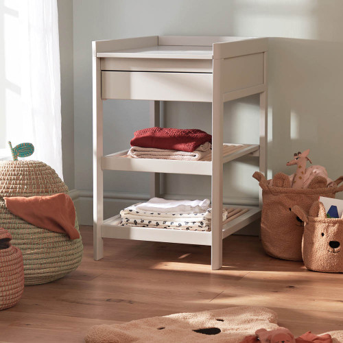 Troll Lukas Changing Table - Grey/Natural