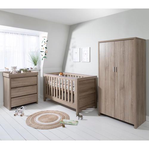 Tutti Bambini Modena 3 Piece Room Set + FREE Mattress - Oak