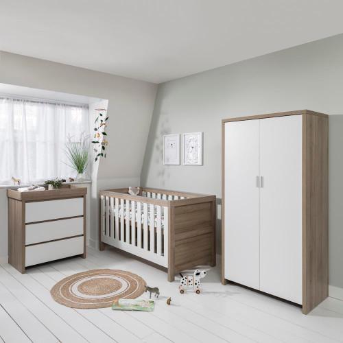 Tutti Bambini Modena 3 Piece Room Set + FREE Mattress - Oak/White