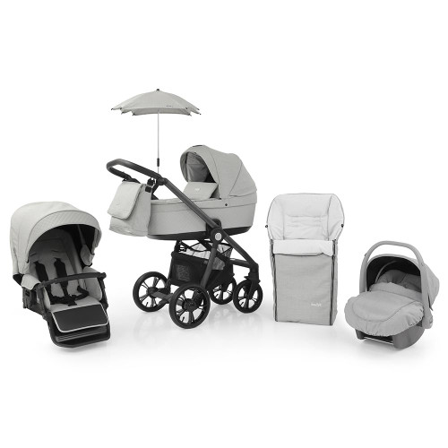 Babystyle Prestige 3 Travel System on Active Chassis - Flint