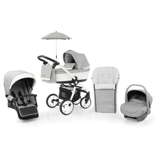 Babystyle Prestige 3 Travel System on Active Chassis - Frost