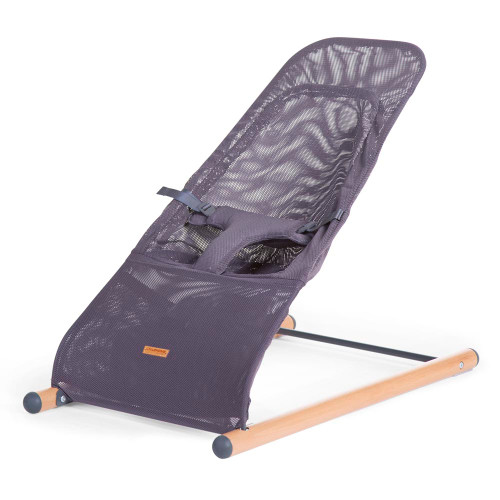 Childhome Evolux Bouncer with Cover - Natural/Anthracite