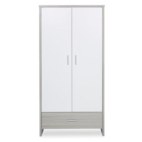 Ickle Bubba Pembrey Wardrobe - Ash Grey & White Trend