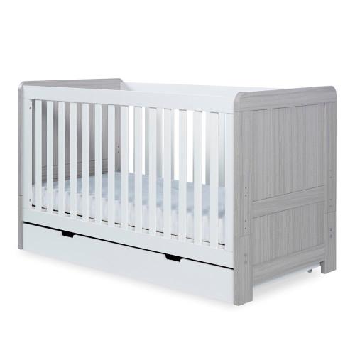 Ickle Bubba Pembrey 3 Piece Furniture Set & Under Drawer - Ash Grey & White