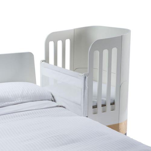 Gaia Serena Co-Sleep Crib - White/Natural