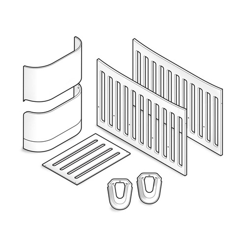 Gaia Serena Crib to Cot Bed Conversion - White/Natural