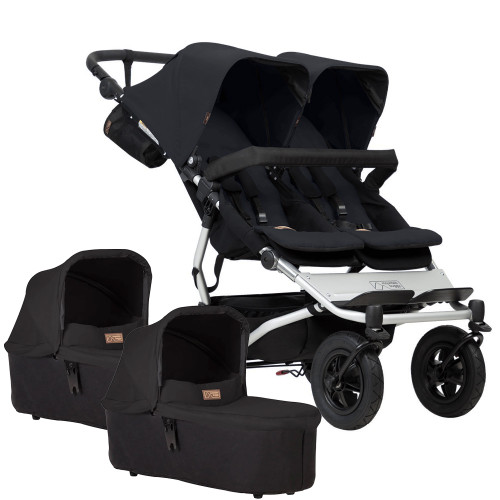 Mountain Buggy Duet V3 + 2 Carrycots - Black