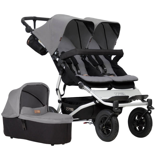 Mountain Buggy Duet V3 + Carrycot Plus - Silver