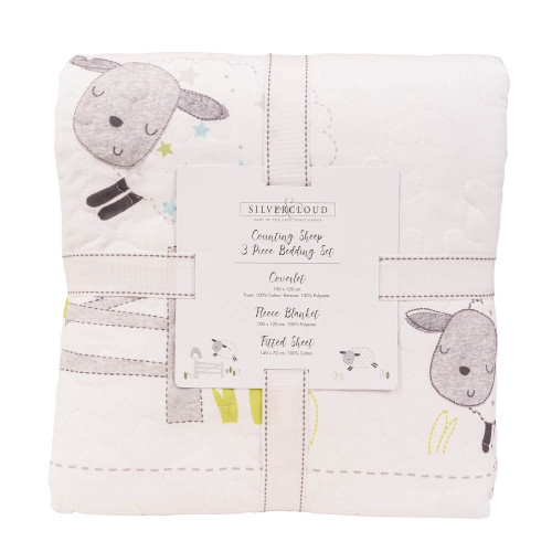 Silvercloud Counting Sheep Collection 3 Piece Bedding Set