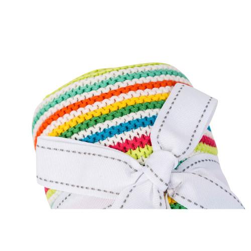 Silvercloud Stripe Knitted Blanket