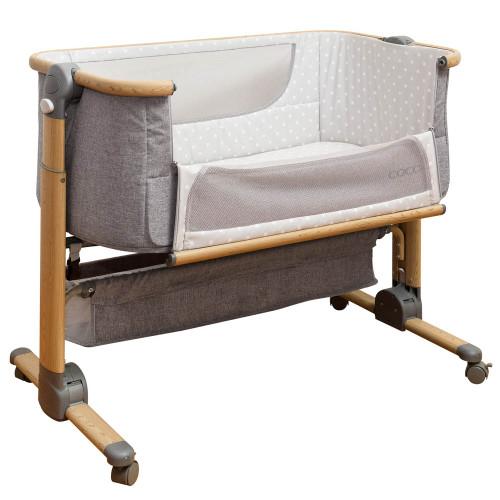 Cocoon Snuggle Time Sleeper Bedside Crib - Grey