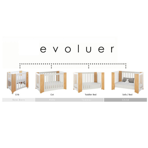 Cocoon Evoluer 4-in-1 Nursery Furniture System - Natural