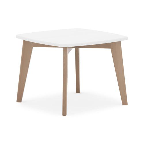 Boori Thetis Squared Table - White & Truffle