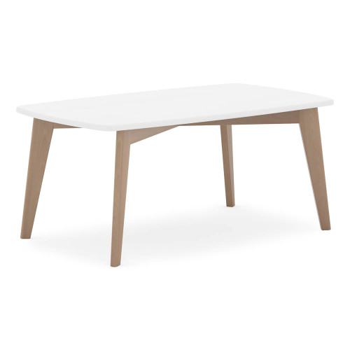 Boori Thetis Rectangular Table - White & Truffle