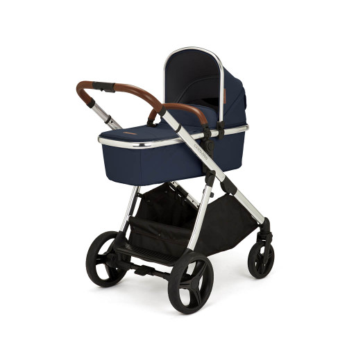 Ickle Bubba Eclipse 2-in-1 Pram - Midnight Blue/Tan Handle