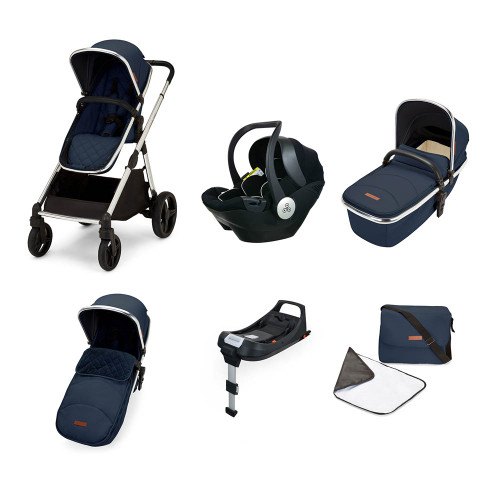 Ickle Bubba Eclipse i-Size All-in-One Travel System - Midnight Blue/Black Handle