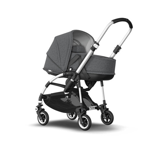 Bugaboo Bee 5 Complete on Aluminium Chassis - Grey Melange