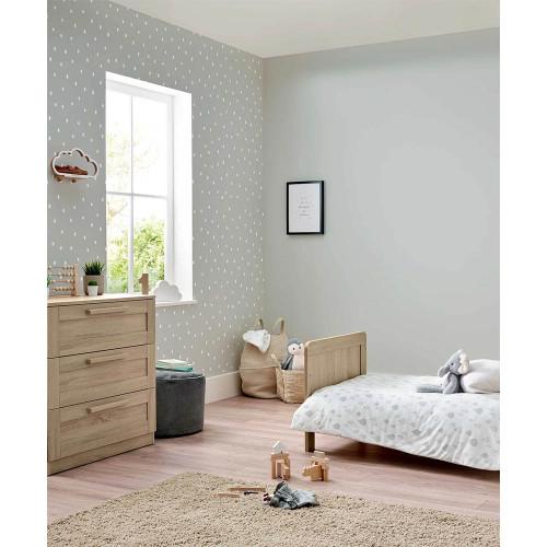 Mamas & Papas Atlas Cot Bed & Dresser - Soft Oak