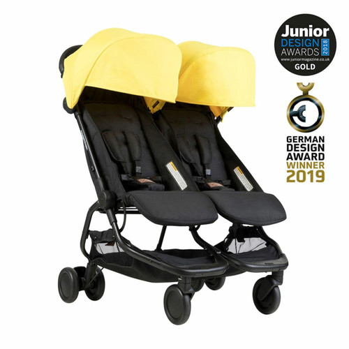 Mountain Buggy Nano Duo Travel System & Cocoon for Twins Bundle - Cyber