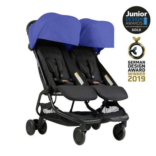 Mountain Buggy Nano Duo Travel System & Cocoon for Twins Bundle - Nautical