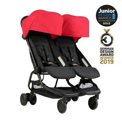 Mountain Buggy Nano Duo Travel System for Twins Bundle - Ruby