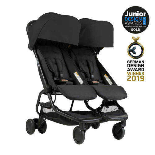Mountain Buggy Nano Duo with Cocoon for Twins Bundle - Black