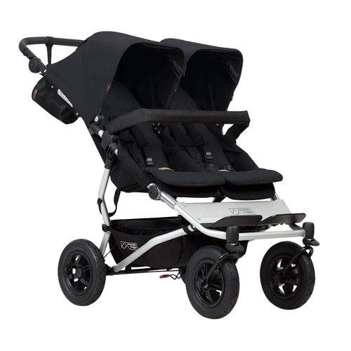 Mountain Buggy Duet V3 and Carrycot Plus for Twins Bundle - Black