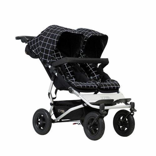 Mountain Buggy Duet V3 and Carrycot Plus for Twins Bundle - Grid