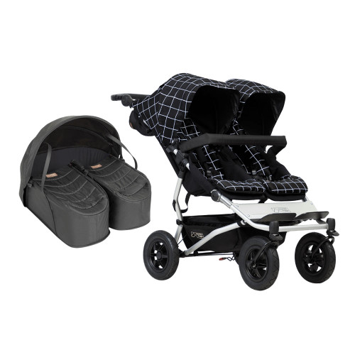 Mountain Buggy Duet V3 and Cocoon for Twins Bundle - Grid