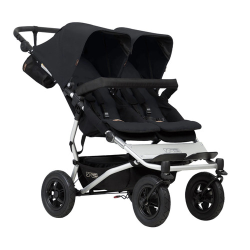Mountain Buggy Duet V3 Travel System & Carrycot Plus for Twins Bundle - Black