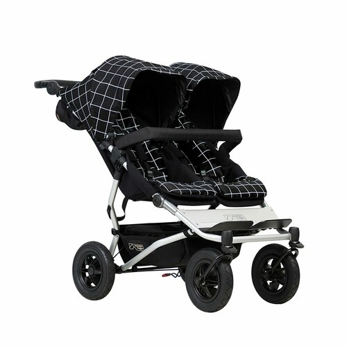 Mountain Buggy Duet V3 Travel System & Carrycot Plus for Twins Bundle - Grid