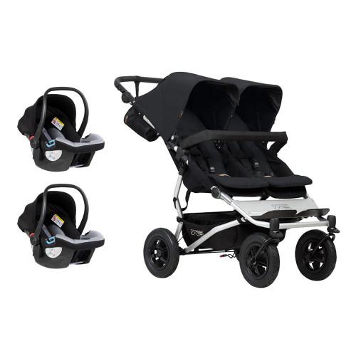 Mountain Buggy Duet V3 Travel System for Twins Bundle - Black