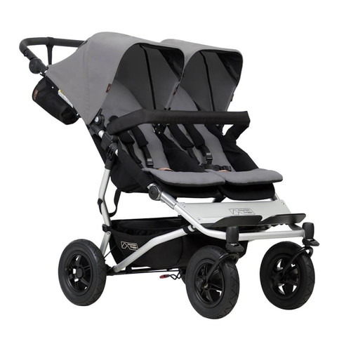 Mountain Buggy Duet V3 Travel System for Twins Bundle - Silver